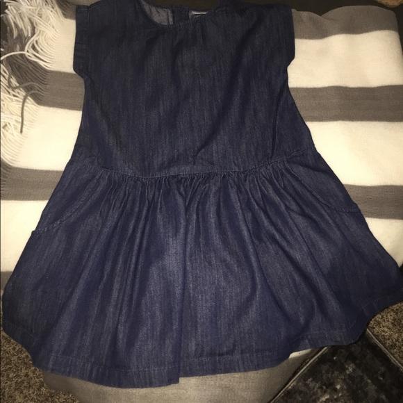 Hannah Andersson Girls Jean Dress Size 120